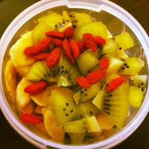 Healthy snacks every single morning at the office ❤☺ #eatclean…