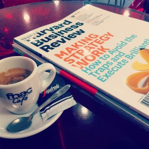 Weekending ☕ #mytime #reading #learning #business #relax #coffeetime #magazine #harvardbusinessreview…
