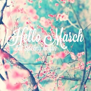 Let Spring begin. In calendar and in our lifes #hellomarch…